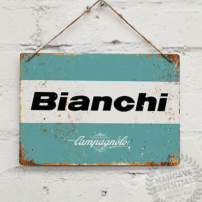 BIANCHI LOGO Campagnolo Replica Vintage Metal Wall Sign Retro Bike Gift Cyclist
