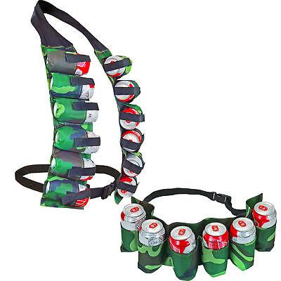 12 Pack Beer Can Vest & 6 Pack Belt In Camo Funny Gag Gift Beer Lovers Tailgate Breweriana, Beer