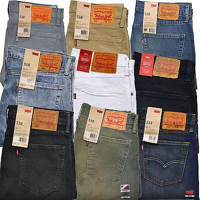 Levis 510 Jeans Skinny Fit Mens Levi's Denim Rinsed Dark Blue Limited Edition Blue Skinny Fit Jeans