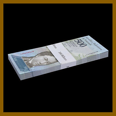 Venezuela 500 Bolivares x 25 Pcs Bundle, 2016-2017 P-New Unc