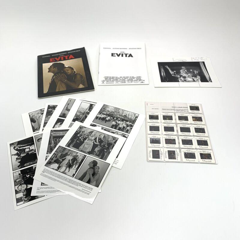 Rare! Evita Movie Press Kit with 35MM slides & photos- Madonna Antonio Banderas