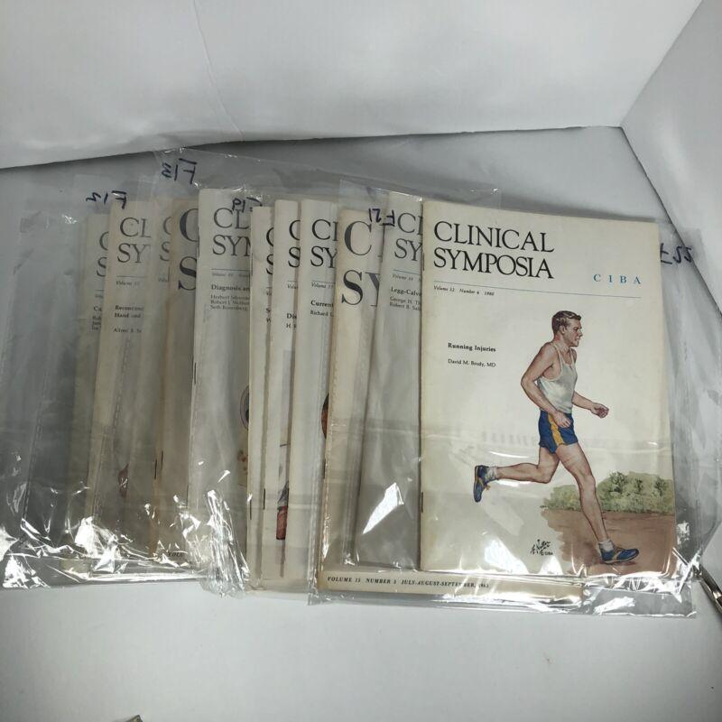 Lot of Clinical Symposia CIBA Vintage Volumes Books Bundle