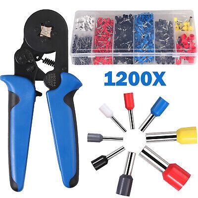 Crimp Tool Kit 6-4 Crimper Plier 0.25-10mm1200pcs Wire Terminal Connectors