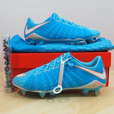reputable site 5ebb8 109c8 Women s Nike Hypervenom Phantom 3 SG-PRO Blue Women s Size 7.5 Soccer Cleats