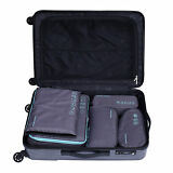 5PCS Travel Luggage Organizer Set Waterproof Packing Cubes Storage Bags