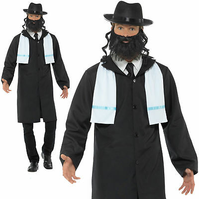tüm Herren Jüdische Priester Religiös Kostüm Outfit M L (Erwachsene Priester Kostüm)