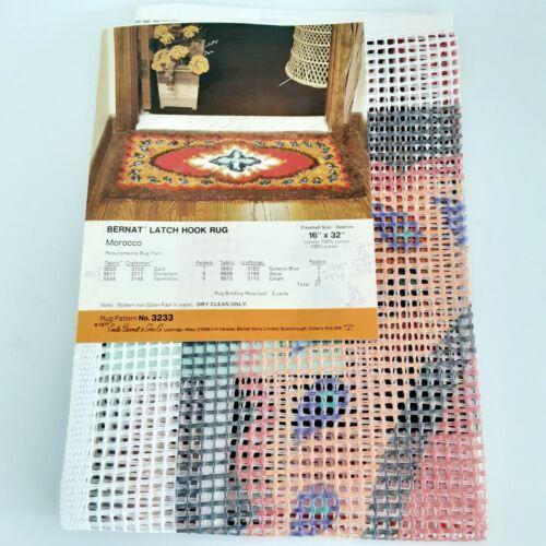 Bernat Latch Hook Rug Canvas Printed MOROCCO Design 16IN X 32IN Pattern No 3233