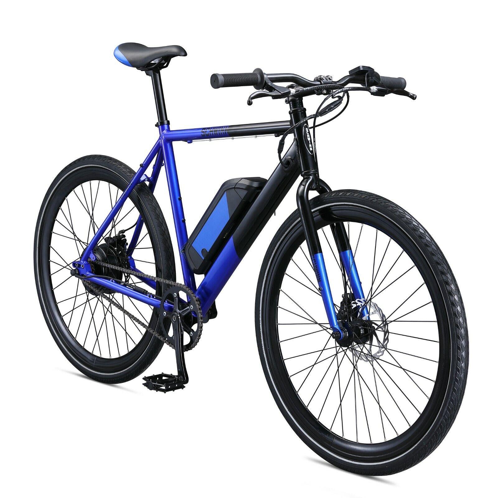 Schwinn 700c Men's Monroe 350 Watt E-Bike Aluminum Frame-Blu
