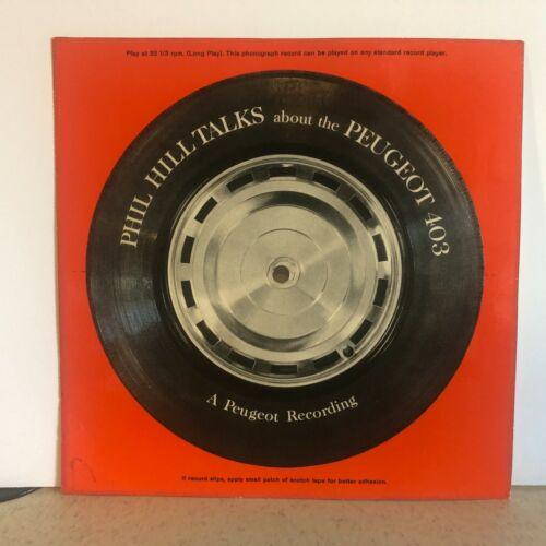 Phil Hill Talks About the Peugeot 403 Flexidisc Record 33 rpm 1959/1960 Rare