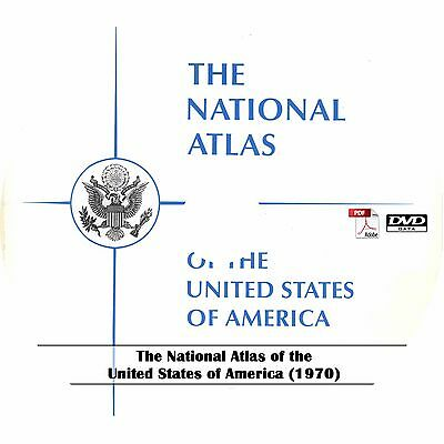 1970 USGS National Atlas of the United States - 200  USA Census Maps on DVD