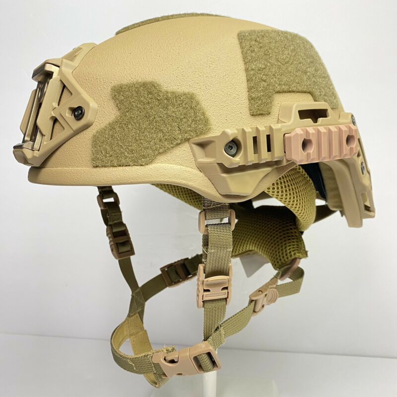 Coyote Brown Ballistic Combat High Cut NIJ IIIA Helmet Size 1 3.0 Fast Shipping
