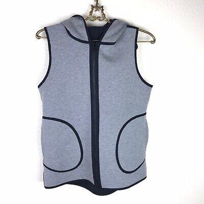 Lululemon Insculpt Vest Size 6 Black Gray Reversible Hooded Pockets