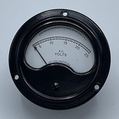 Vintage Burlington A.c. Volt Meter Burlington Iowa Usa