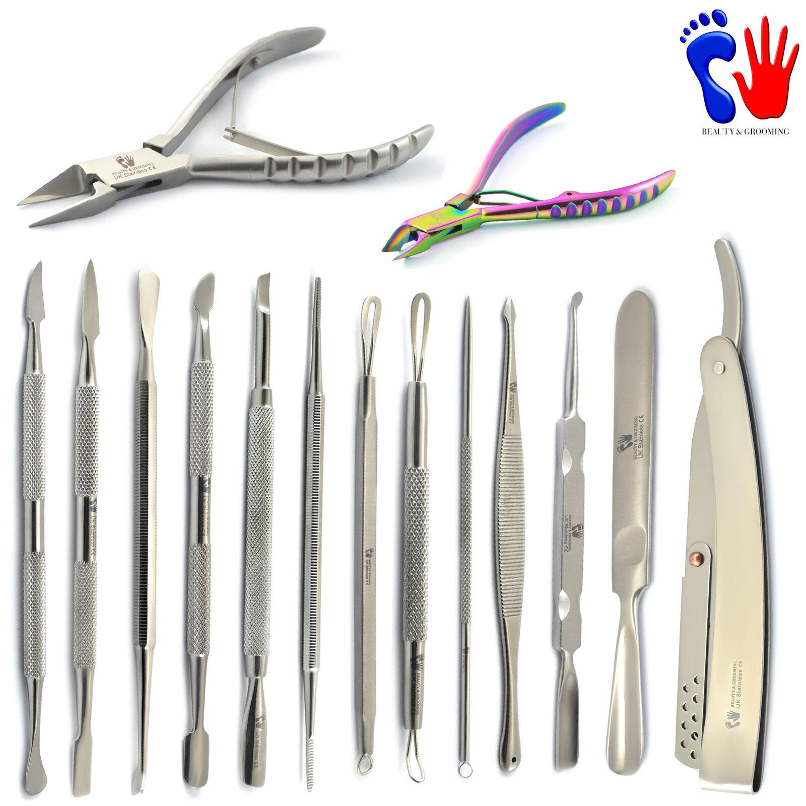 Gamma Di Manicure Pedicure Kit Rimozione Della Cuticola Per Spingere, Grattare