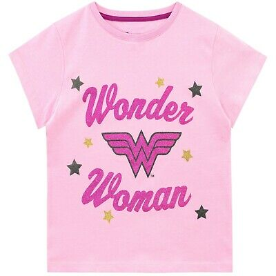 DC Comics Wonder Woman T-Shirt | Girls Wonder Woman Tee | Kids DC Comics Top ()
