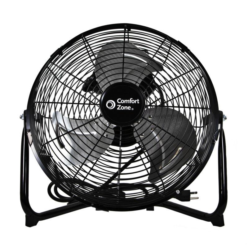 "Comfort Zone CZHV12B 12"" 3-Speed High-Velocity Fan"