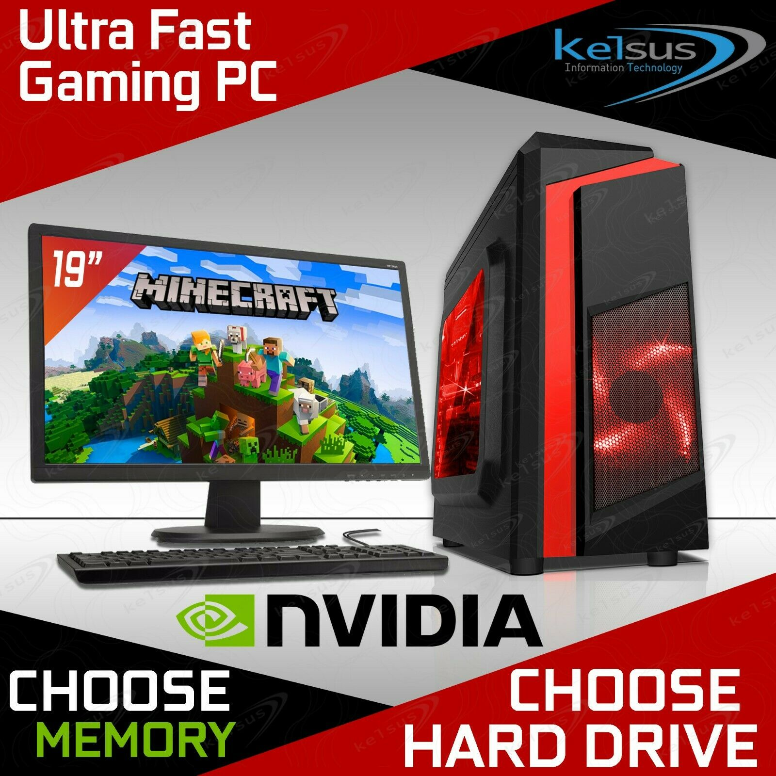 computer game - Ultra Fast Gaming PC Bundle Intel Core i5 16GB 1TB HDD Windows 10 2GB GT710