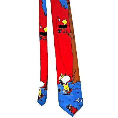 1960s – 70s Men's Ties | Skinny Ties, Slim Ties Vintage PEANUTS Snoopy Tie 1960's Snoopy Woodstock Charles Shulz Golf 100% Silk  $19.99 AT vintagedancer.com