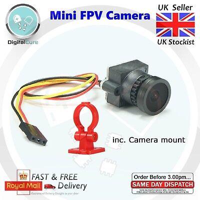 FPV 700TVL Mini Cámara 2.8mm 110° Fov 3.3V-5V Pal Ntsc + Soporte...