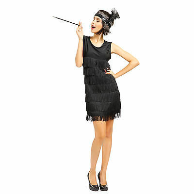 1920's Gatsby Charleston Kostuem 20er Jahre Flapperkleid Partykleid Fransenkleid