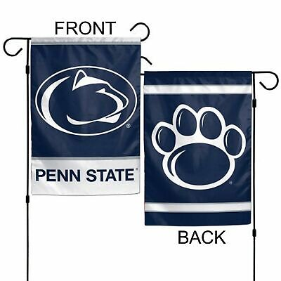 """PENN STATE NITTANY LIONS TEAM GARDEN WALL FLAG BANNER 12.5"""" X 18"""" 2 SIDED NCAA"""