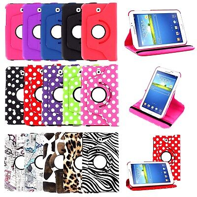 360 PU Case Leather Cover For Galaxy Tab 2 3 4 Lite A E S S2 S3 S4 Note Pro