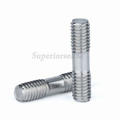 A2 304 Stainless Steel - M5 M6 M8 Double End Threaded Stud Bar Rod Screws Bolts