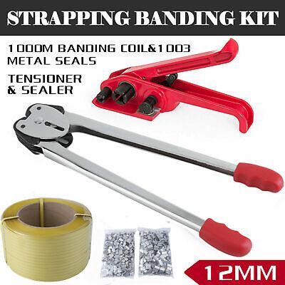 Heavy Duty Pallet Strapping Banding Kit Tensioner Tool Sealer Coil Reel Ta