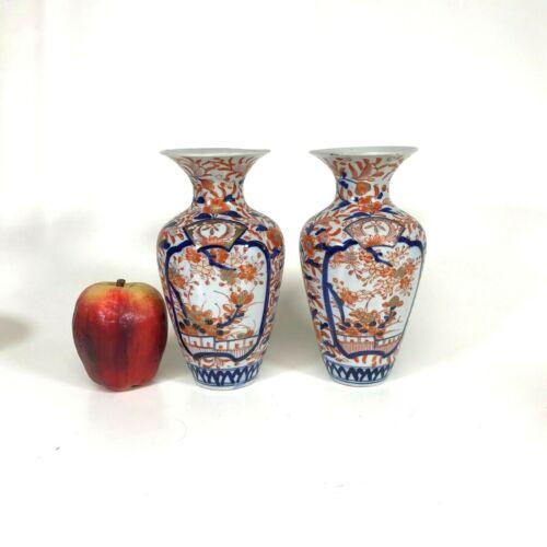 Pair of Antique Japanese Imari Porcelain Vases