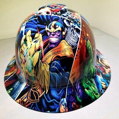 Hard Hat Full Brim Custom Hydro Dipped Osha Marvel Superheroes Comic Strip