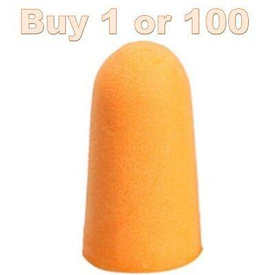 Lot Blaze Bright Orange Ear Safety Plug Cap Gun Barrel Foam Tip Lot For Vtg Toy