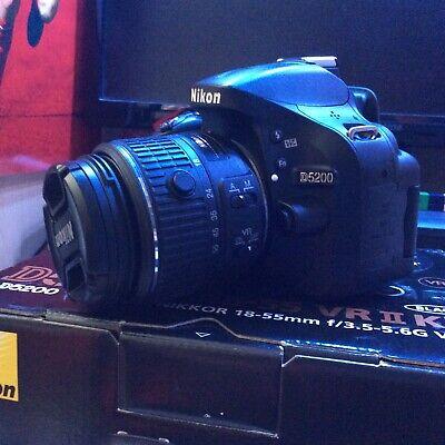Nikon D5200 DSLR Camera + Nikon AF-S 18-55mm VR Lens Kit - EXcellent Condition!