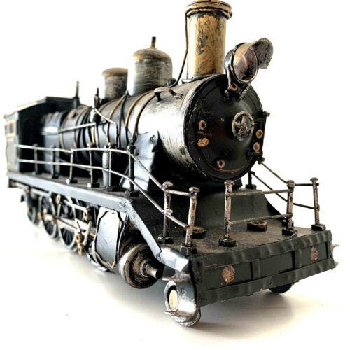 Train Locomotive Engine Railroad Metal Retro Decorative Art Collectible Black