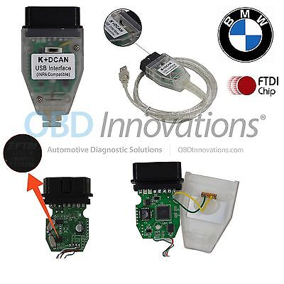 BMW K + D-CAN OBD2 USB INPA Cable FTDI FT232RQ + Jumper Switch (Cable Only)
