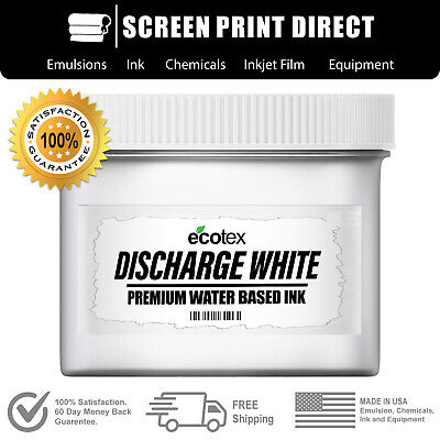 Ecotex Discharge White Water Based Ink For Screen Printing - Pint - 16 Ounces