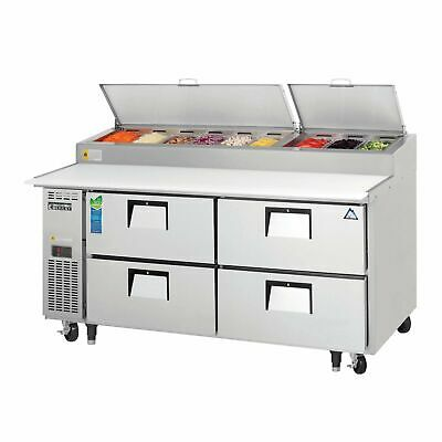 Everest Eppr2-d4 71 Pizza Prep Table Refrigerated Counter