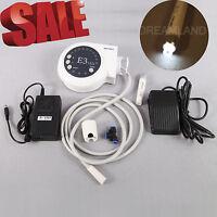 Dental Ultrasonic Piezo Scaler E3 & Fiber Optic Led Handpiece F/ Ems Woodpec K5w -  - ebay.it