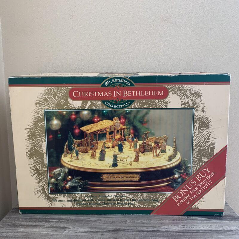 1997 Mr Christmas Musical Christmas in Bethlehem animated Nativity Used Tested