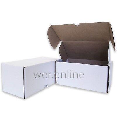 10 x Postal Gift White Diecut Cardboard Boxes 8 x 4 x 4