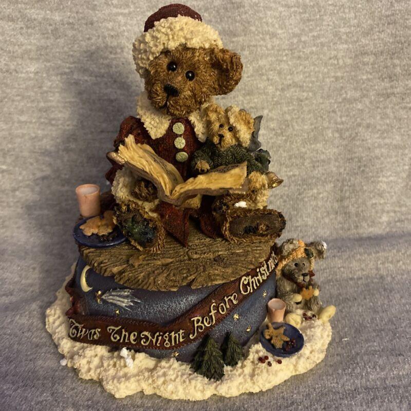 Boyds Bears Twas The Night Before Christmas Music Box