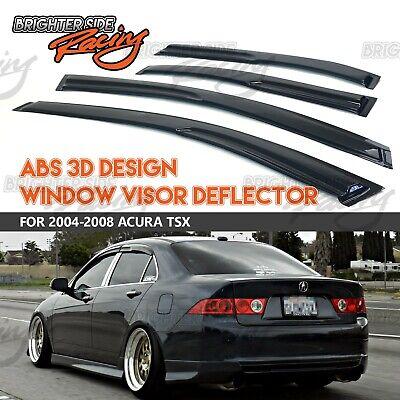 FITS 04-08 ACURA TSX WINDOW VISORS WIND RAIN GUARD SUN BLOCK DARK TINTED JDM