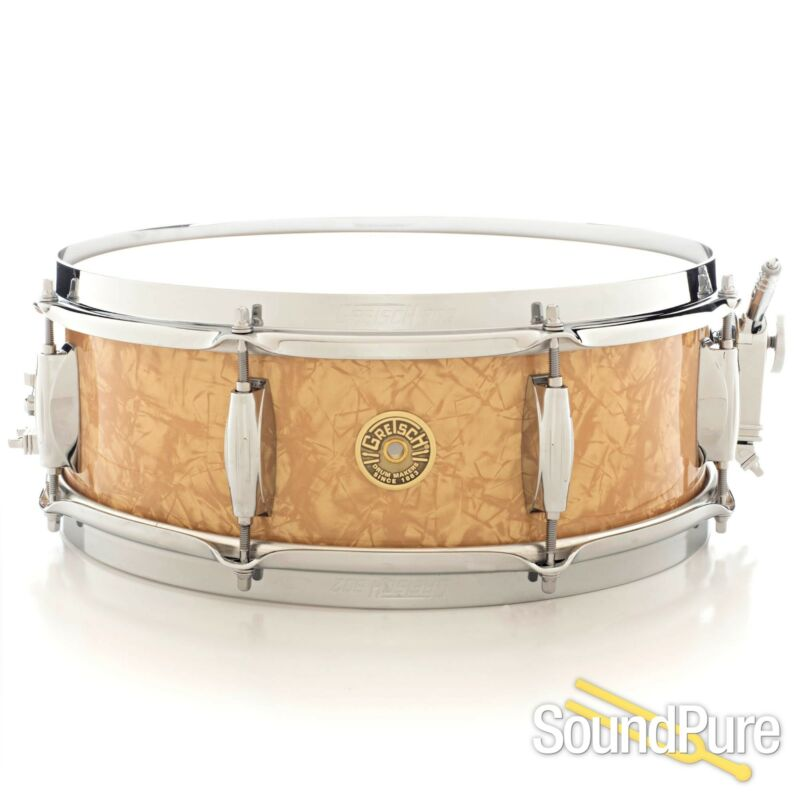 Gretsch 5x14 Broadkaster Snare Drum-Antique Pearl