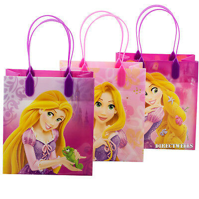 Disney Princess Rapunzel Tangled Reusable Small Party Favor Goodie 12 Bags  (Princess Goodie Bags)