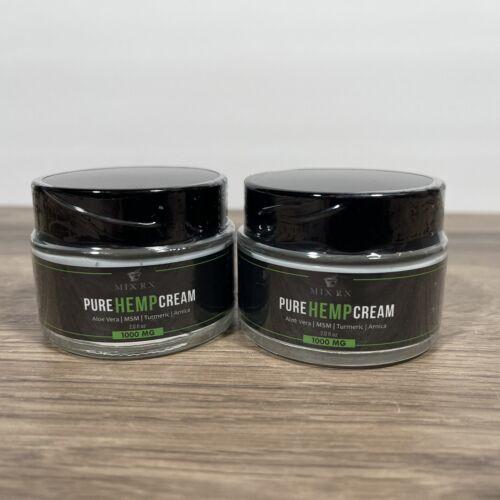 MIX RX Pure Hemp Cream 1000mg 2.0 fl.oz Exp 08/21 * 2-Pack*