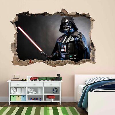Star Red Sword Wars Darth Vader Wall Sticker Mural Decal Kids Room Nursery BD29
