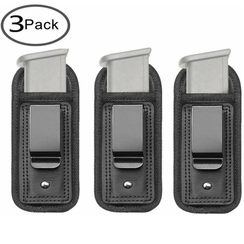 3 Pack Handgun Magazine Belt IWB Holder Pouch for 9/.40/.45mm All Pistol Mags