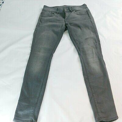 G-Star Women Jeans Gray 28x30 Slander Denim Lynn Mid Skinny Stretch Gray Pants