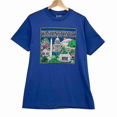80s Tops, Shirts, T-shirts, Blouse   90s T-shirts Vintage Washington DC 1980s Graphic Tshirt Size L Made in Usa Single Stitch Soft $16.99 AT vintagedancer.com