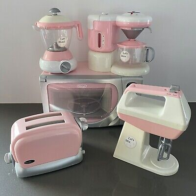 ADORABLE! Pottery Barn Kids Kitchen 5 PIECE Appliance Set Pink