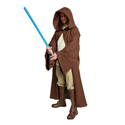 Adult Jedi Obi Wan Wizard STAR WARS Monk Cosplay Costume Brown Cloak Robe S M L - Jedi Costumes Adults